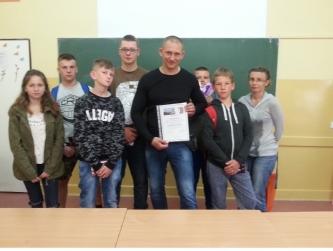 Spotkanie z panem Robertem - Policjantem KMP w Radomiu i aktorem