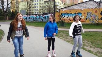 Na rolkach w Parku Leśniczówka